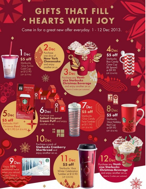 Starbucks Christmas Menu.Starbuck Savings And Another Cup Of Coffee