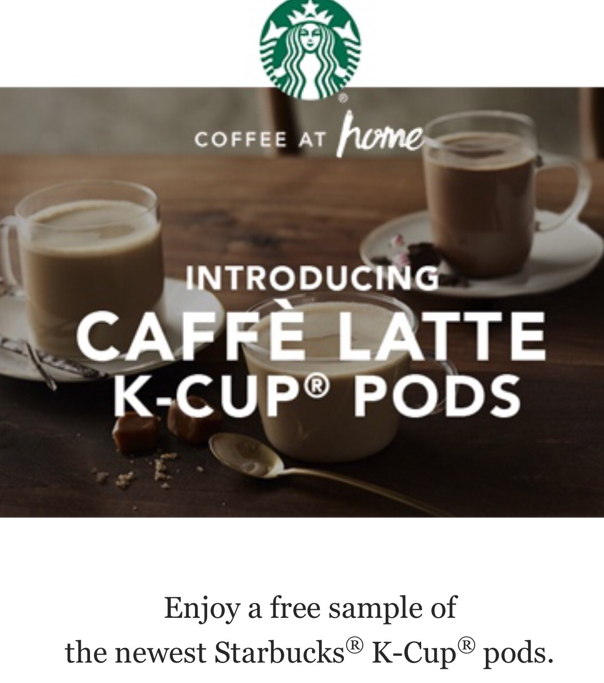 Free Sample Of New Starbucks Latte K Cup Pods And